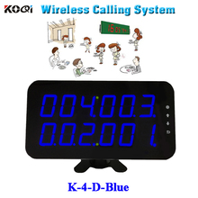 Ycall Restaurant order device high quality new touch screen wireless calling receiver panel K-4-D-blue(China)
