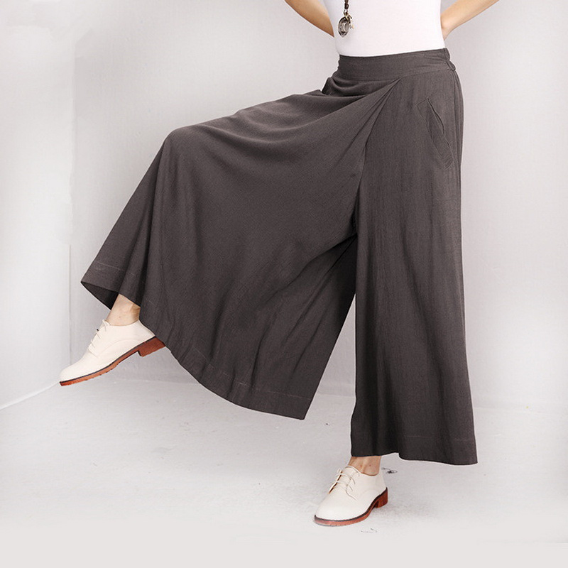 Elegant Women Casual Elastic Loose Large High Waist Linen Cotton Long Pants Women Trousers Maternity Pants Pregnant Clothes Ropa<br>