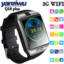 YANZIWU Q18 Plus Smart Watch Phone 3G GPS WiFi Fashion Wristwatch Camera Video Smartwatch 512MB/4G Waterproof Bluetooth Clock