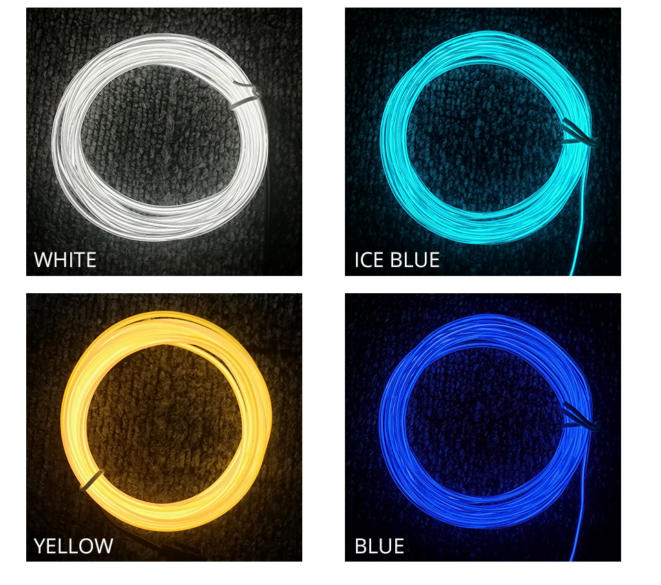 VooVoo 5M 10 Colors Car Styling DIY EL Cold Line Flexible Interior Decoration Moulding Trim Strips Light For Motorcycle and Cars_01 (10)