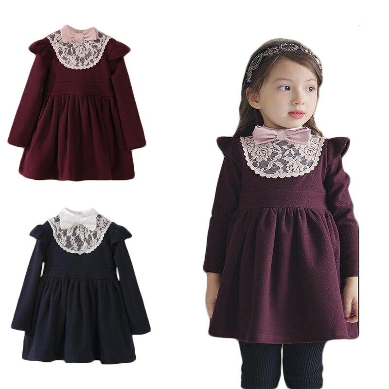 Toddler Girls Spring Sleeveless Princess Dress vintage Lace flower 1 2 3 4 5