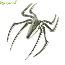 High Quality  1 x 3D Spider Chrome Sticker Badge Logo Emblem Decal Motorcycle Car Truck Mark Trim