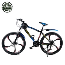 High-carbon steel 26-inch mountain bike dual disc brakes one wheel speed damping 21 Men Women Student Bicycle s1