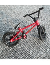 Professional Finger Bike Bicycle Bicyclist Toys Red & Black Color MINI BMX with Real Brakes child Christmas Gift EXTREME SPORTS(China)