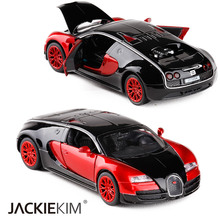 High Simulation 1:32 Bugatti Veyron Racing Alloy Car Model Acousto-optic Vehicles Matal Car Model Classic Car Children Toy Gifts(China)