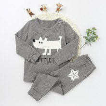 Children Pajamas Suits Fashion Girls And boys Cotton O-neck Clothing Sets Character Pattern 2017 Long Sleeve Top Tee Long Pants