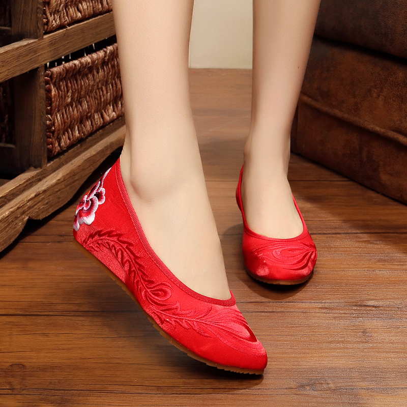 Fashion embroidered red bottom heels women flats shoes sapato feminino shoes for ladies zapatos mujer wedding shoes oxford shoes<br><br>Aliexpress
