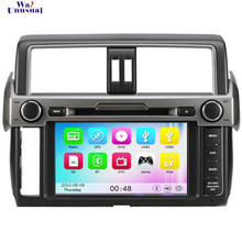Free Shipping Wince 6.0 Car DVD Player for Toyota New Prado 2014 Hot Auto Parts Car GPS Navigation with Free Map 8G