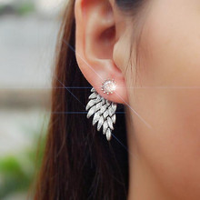 hot sell Crystal Jewelry Retro angel wings earrings  For Women Fashion Jewellery