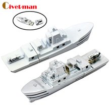 Metal Steamship USB Flash Drive Pendrive Memory Stick Real Capacity 2GB 4GB 8GB 16GB 32GB warship pen drive Gifts Free Shipping