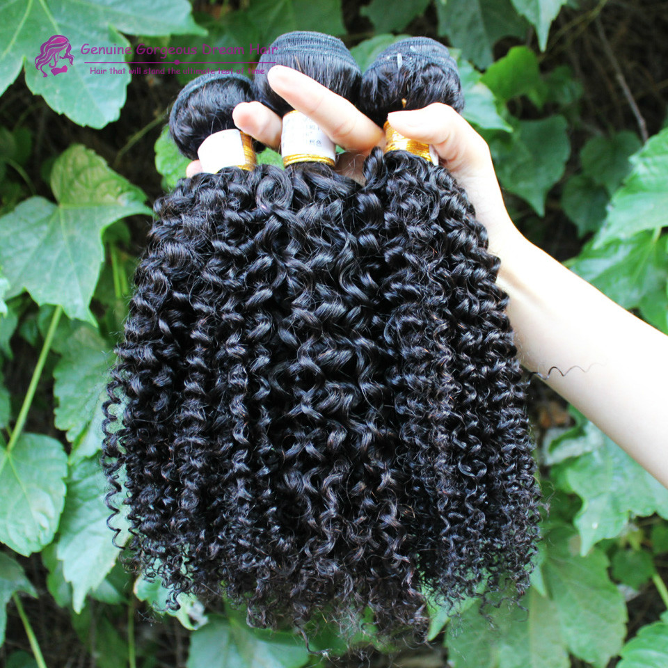 6a Mongolian Afro Kinky Curly Hair 3Pcs/lot Human Hair Extensions Products Mongolian Kinky Curly Virgin Hair Good Quality<br><br>Aliexpress