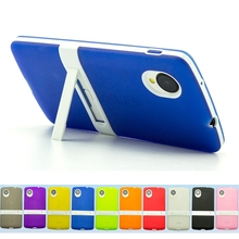 For LG Nexus 5 Case 4.95 inch TPU + PC 2 in 1 Stent Ultra Thin TPU Soft Rubber PC frame For LG Google Nexus 5 Case