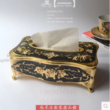 luxury antique carved metal tissue box tissue box holder napkin holder tissue holder toilet paper roll for home decor ZJH014
