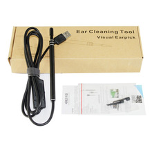 2-in-1 USB Ear Cleaning Endoscope HD Visual Ear Spoon Multifunctional Earpick With Mini Camera Ear Cleaning Tool Pen Camera(China)
