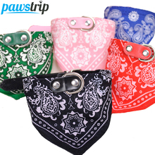 1Pc Lovely Pet Dog Scarf Collar Adjustable Puppy Bandana Quality Pet Cat Tie Collar(China)