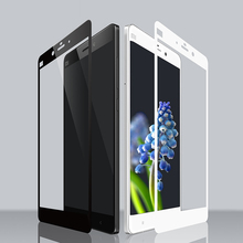 Full Cover Tempered Glass Screen Protector for Xiaomi Mi Note 9H 2.5D 0.33mm Silk Print Self Adhesive Protective Glass Film(China)