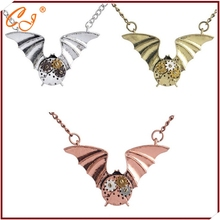 Ebay speed sell tong sources heavy machinery necklace Three color bat pendant necklace Spot wholesale