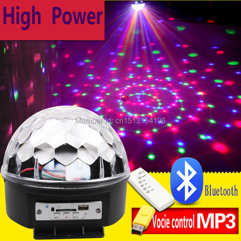 18W Bluetooth LED disco ball light remote control music ball stage effect soundlights DJ magic ball project laser party lights<br>