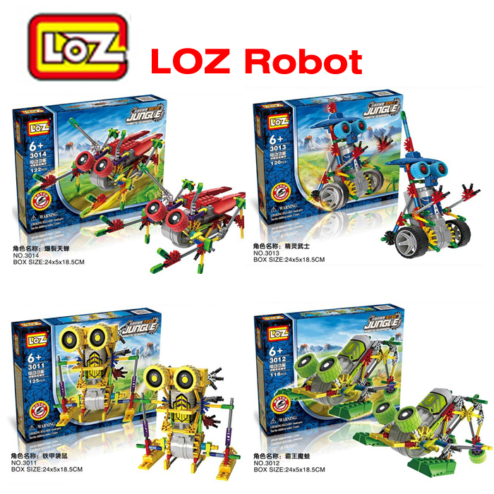 1PC LOZ Plastic Electric Block Mechanical Robot Blocks Action Mini 3D Bricks Education Toys For Children<br><br>Aliexpress