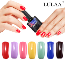 LULAA Newest Nail Gel Polish UV&LED Shining 108 Candy Color Long-Lasting Soak-off Varnish Cheap Gel Nail Gel 12ml Nail Art