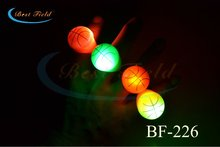 Free Shipping 5pcs/lot soft TPR LED Light Up Flashing basketball Finger Rings Glow Kids Children Party Favors Glow Toys(China)