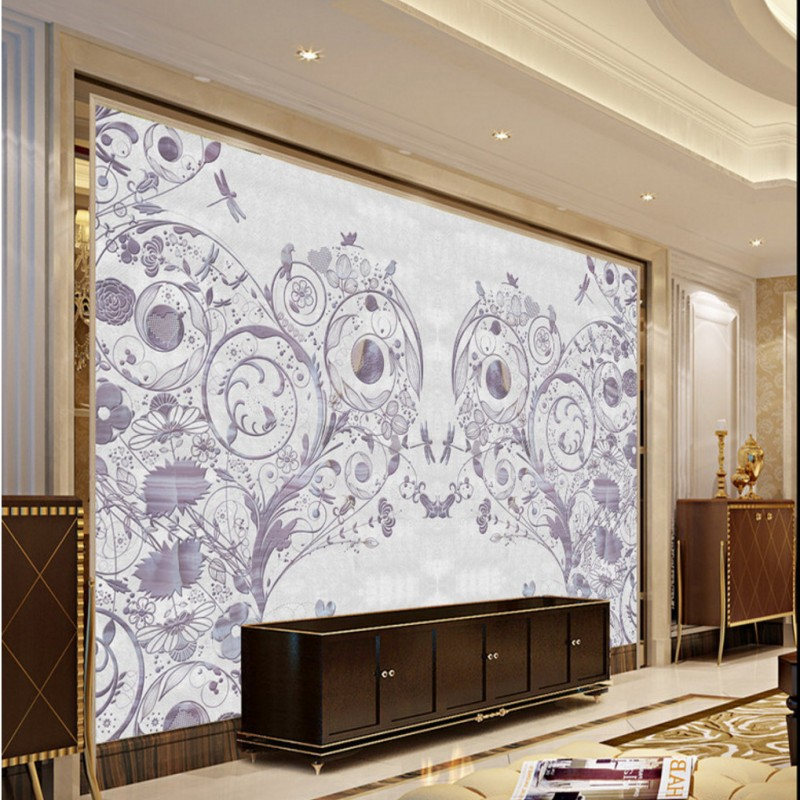 Free Shipping Purple marble background living room bedroom wallpaper 3D stereo custom office decoration mural<br><br>Aliexpress