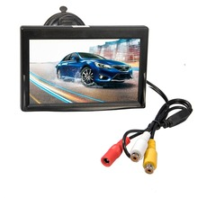 "High Resolution 5"" High Resolution HD TFT LCD Car Rearview Mirror Monitor 800*480 Monitor Screen 2ch Video DC 12V for Camera VCR"