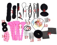 New Arrive Hair Band Hair Comb Hairpin Rubber Band Device Hair Styling Tools Accessories 20 Different Type/Set 24