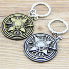 1PC Game of Thrones Shield Round Coin Metal Keychain Pendant Key Chain Chaveiro Key Ring KT157