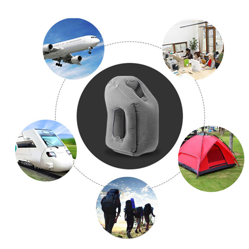 2017 hot sale Multi-function Inflatable Woollip travel outdoor pillow Inflatable Travel on Airplane outdoor Pillow Cushion mat  (13)