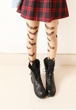 Buy Gothic lolita tights HARAJUKU style japanese pantyhose  Vintage sexy halloween thin pantyhose bat  tattoo tights girls