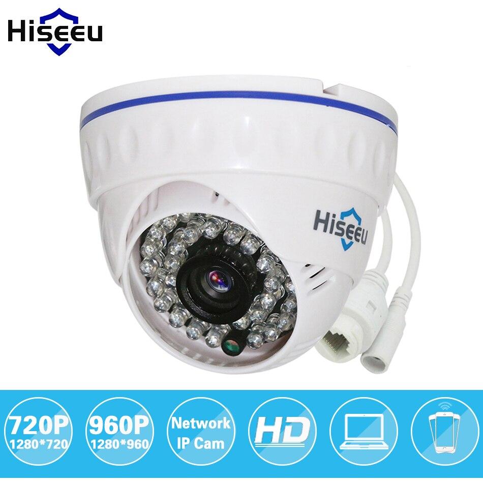 Hiseeu 720P 1.0MP 960P 1.3MP Family Mini Dome Security IP Camera ONVIF 2.0 indoor IR CUT Night Vision P2P freeshipping HCR5<br><br>Aliexpress