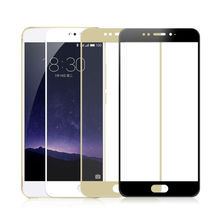 Full Cover Tempered Glass for MEIZU MX6 9H 2.5D 0.33mm Silk Print Self Adhesive Protective Glass Screen Protector(China)