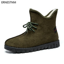 ERNESTNM 2018 Winter New Design Women Ankle Boots Non-slip Warm Snow Boots  Casual Fashion Lace-Up Shoes Plush Booties Woman 4e5280bb40e