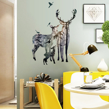 Removable Vinyl Forest Wall Sticker 3D Bird Flying Wall Sticker Art Decals Sticker DIY Home Bedroom Wall Decoration(China)