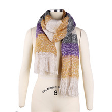 Women Winter Mohair Scarf Long Size Warm Fashion Scarves & Wraps For Lady Casual Soft Scarf Accessories 205*70cm NQ987003