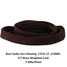 Bore Snake Gun Cleaning .17CAL CF .17HMR .177 Brass Weighted Cord F Rifle/Pistol