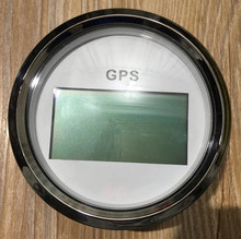1pc brand new 85mm digital GPS speedometer 12v/24v suitable for boat auto CCSB with mating antenna white color(China)