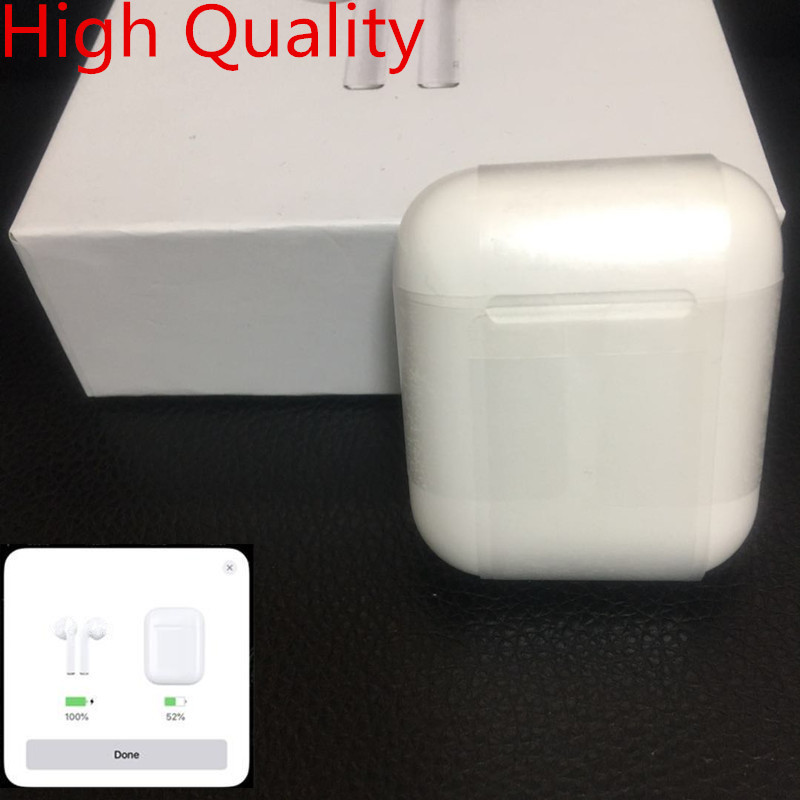High Quality 1:1 w1 chip Brand open case pop up Wireless Bluetooth headset With Charging Box Headphones For Iphone PK i20 i13(China)