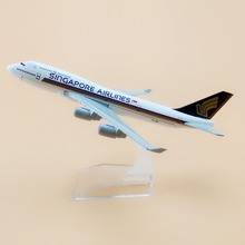 16cm Alloy Metal Air Singapore Airlines B747 400 Airplane Model Boeing 747 400 Airways Plane Model w Stand Aircraft