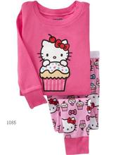 Giraffe Girl's Pajama Sets Children's clothes sets kids pajamas Hot Sale 100% Cottopn Pyjama