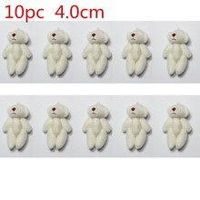 10pc 5colors 4.0cm mini Joint Teddy Bear Plush Stuffed Wedding BOX toy doll Garment & Hair Accessories decor doll(China)