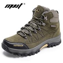 -40C Warm Men Winter Boots Quality Suede Leather Men Boots Fur Plush Snow Boots Winter Shoes Men Outdoor Boots Shoes Plus