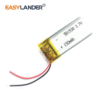 501530 3.7V 150mAh Rechargeable Li-Polymer Li-ion Battery For pen MP3 MP4 DVR tools  speaker toys bluetooth heads 051530