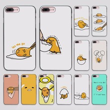 Cute Funny Gudetama Cartoon Character Egg design hard black Case Cover for Apple iPhone 7 6 6s Plus SE 5 5s 5c 4 4s(China)