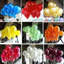 High Quality 100pcs 10 inch Latex Balloons Pearl Wedding Birthday Party Decor