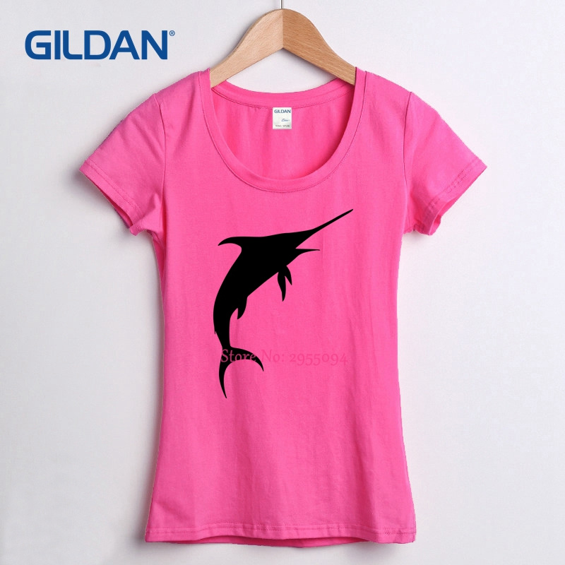 Comfortable t-shirt womens hip hop round Neck marlin cotton streetwear female Short Sleeve women tshirt cool tee shirts(China)
