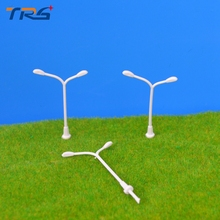 Teraysun Lamppost Model 200Pcs Plastic Streets Lamp 1:500 Model making Miniature Model Lamp Model Toys Railway Street Light