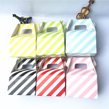 (Pack of 12) 12pcs/lot Striped Paper Horn Candy Boxes Favor Bags Movie Nights Kids Birthday Party Wedding Supplies
