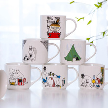 Cute Cartoon moomin Ceramic mug coffee cup gift box packing canecas moomin many deisgns
